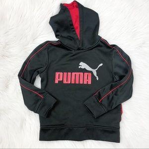 Puma hoodie black red sweater size 5